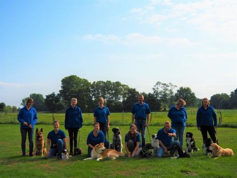 Het demoteam van hondensportvereniging De Vriendschap